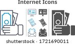 internet icon set included...