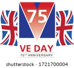 ve day victory in europe logo... | Shutterstock .eps vector #1721700004