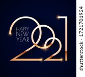 happy new 2021 year  elegant... | Shutterstock .eps vector #1721701924
