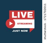 live streaming logo with play... | Shutterstock .eps vector #1721702011