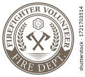 firefighter volunteer. fire... | Shutterstock .eps vector #1721703514