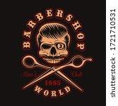 vintage illustration of barber... | Shutterstock .eps vector #1721710531