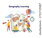 geography concept. global... | Shutterstock .eps vector #1721719087