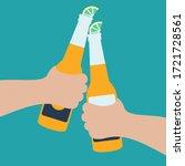 enjoy in summer holiday... | Shutterstock .eps vector #1721728561