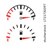 Gauge Of Fuel. Guage Of Gas ...