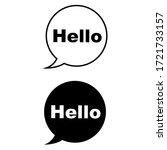 hello vector icon set. hi...   Shutterstock .eps vector #1721733157