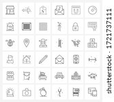 mobile ui line icon set of 36...