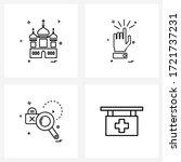 4 editable vector line icons... | Shutterstock .eps vector #1721737231