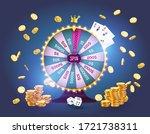 vector illustration spinning... | Shutterstock .eps vector #1721738311