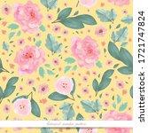 art of flower in watercolor... | Shutterstock .eps vector #1721747824