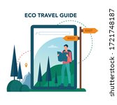 eco tourism and eco traveling... | Shutterstock .eps vector #1721748187