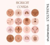 collection of highlight covers... | Shutterstock .eps vector #1721755741