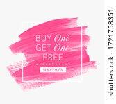 buy 1 get 1 free. sale sign... | Shutterstock .eps vector #1721758351