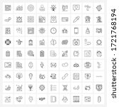 set of 81 simple line icons of... | Shutterstock .eps vector #1721768194