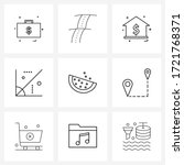 9 universal line icons for web... | Shutterstock .eps vector #1721768371