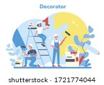 male and female decorator... | Shutterstock .eps vector #1721774044