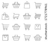 set of shopping cart icons in... | Shutterstock .eps vector #1721778961