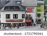 Small photo of Italian Cafe Pizzeria Mirabella in Sankt Wolfgang im Salzkammergut Oberosterreich, Austria in June 2016