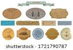 vintage scrapbooking various... | Shutterstock .eps vector #1721790787