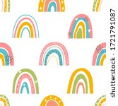 vector seamless pattern with...   Shutterstock .eps vector #1721791087