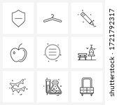 ui set of 9 basic line icons of ...