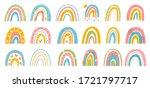 abstract vector rainbow set.... | Shutterstock .eps vector #1721797717