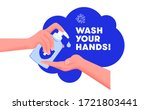 wash your hands in restroom... | Shutterstock .eps vector #1721803441