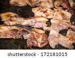 sausage grill | Shutterstock . vector #172181015