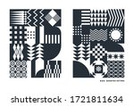black and white geometric... | Shutterstock .eps vector #1721811634