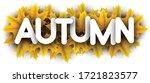 autumn paper letters over... | Shutterstock .eps vector #1721823577
