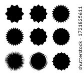 black blank stickers promo set. ... | Shutterstock .eps vector #1721825611