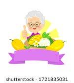 logo thai dessert mango  with... | Shutterstock .eps vector #1721835031