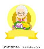 logo thai dessert mango  with... | Shutterstock .eps vector #1721836777