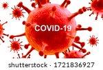 the inscription covid 19 on the ... | Shutterstock . vector #1721836927