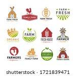 farm logo icons vector... | Shutterstock .eps vector #1721839471