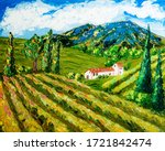 spain valdepenas vineyards and... | Shutterstock . vector #1721842474