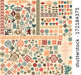 design elements set | Shutterstock .eps vector #172184375