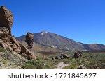 Lamdscape scene of Mount Teide in Tenerife