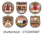 bowling alley  skittle ground... | Shutterstock .eps vector #1721845687
