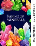crystals  gemstones and gem... | Shutterstock .eps vector #1721845834