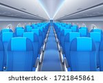 plane or airplane cabin... | Shutterstock .eps vector #1721845861