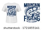 Salmon Or Trout Fish Print T...