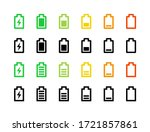 full and low battery icon set....