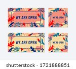 vector sign we are open. trendy ... | Shutterstock .eps vector #1721888851