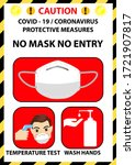 no mask no entry sign.... | Shutterstock .eps vector #1721907817