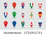 World Flags 3d Round Label...