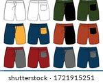 shorts men design color... | Shutterstock .eps vector #1721915251