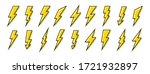 lightning icons set. thunder... | Shutterstock .eps vector #1721932897