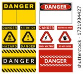 danger. safety labels with... | Shutterstock .eps vector #1721934427