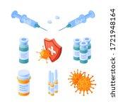 immunity icons isometric set.... | Shutterstock .eps vector #1721948164
